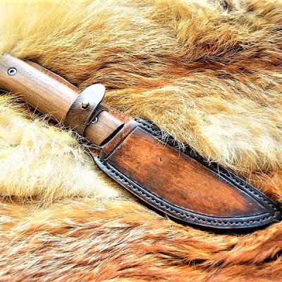 Ножны (чехол) для ножа, кожа РД, ручная работа, на заказ арт MS16