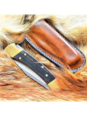 Кожаные ножны под BUCK 110 горизонтальный подвес цвет антик браун MS3-1 на заказ