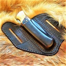 Кожаные ножны для складного ножа BUCK110 вертикальный подвес MS11-1 цвет антик дарк на заказ