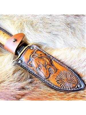 """Ножны (чехол) для ножа """"Пардус"""", кожа РД, ручная работа, на заказ арт. MSA11"""