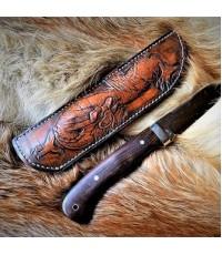 Ножны (чехол) для ножа кожа РД, ручная работа, на заказ арт MSA22