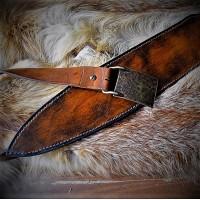 Ножны (чехол) для сувенирных мечей, кожа РД, ручная работа, на заказ арт MSA6