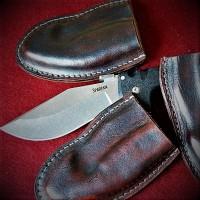 Ножны (чехол) для складного ножа Cold Steel Spartan, кожа РД, ручная работа, на заказ арт MS12