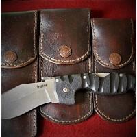 Ножны (чехол) для складного ножа Cold Steel, кожа РД, ручная работа, на заказ арт. MS14