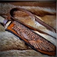 "Ножны (чехол) для ножа ""Кельтик стиль"" кожа РД, ручная работа, на заказ арт MSA2"