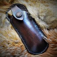Ножны (чехол) для складного ножа, кожа РД, ручная работа, на заказ арт MS8