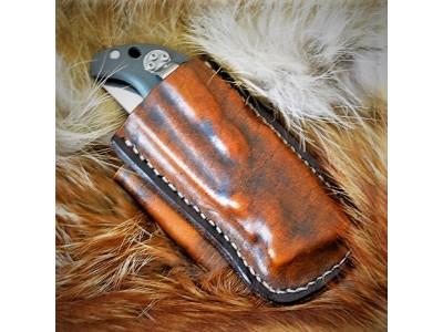 Ножны (чехол) обжимные для складного ножа Cold Steel модель 20NPF Finn Wolf  кожа РД, ручная работа, на заказ арт. MS-20