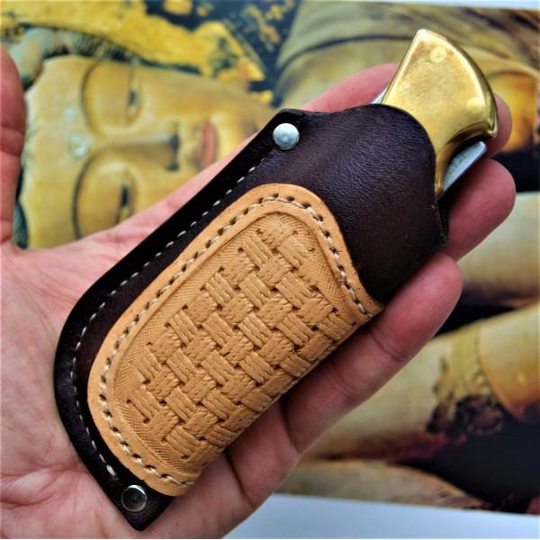 Ножны кожаные для складного ножа арт. klkl1