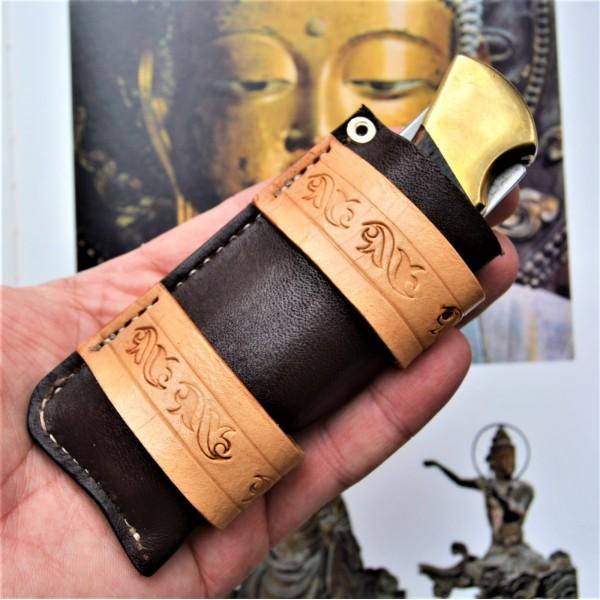Ножны кожаные для складного ножа арт. klkl5