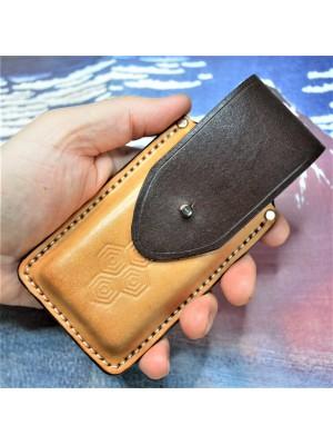 Ножны кожаные для складного ножа арт. klkl10