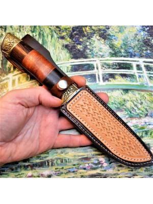 Ножны кожаные для ножа с фиксированным клинком арт nf-11