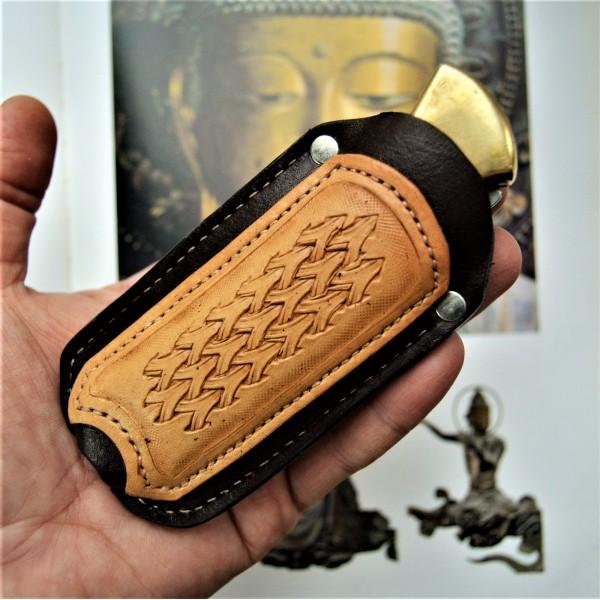 Ножны кожаные для складного ножа Buck 110 арт. rklkl2