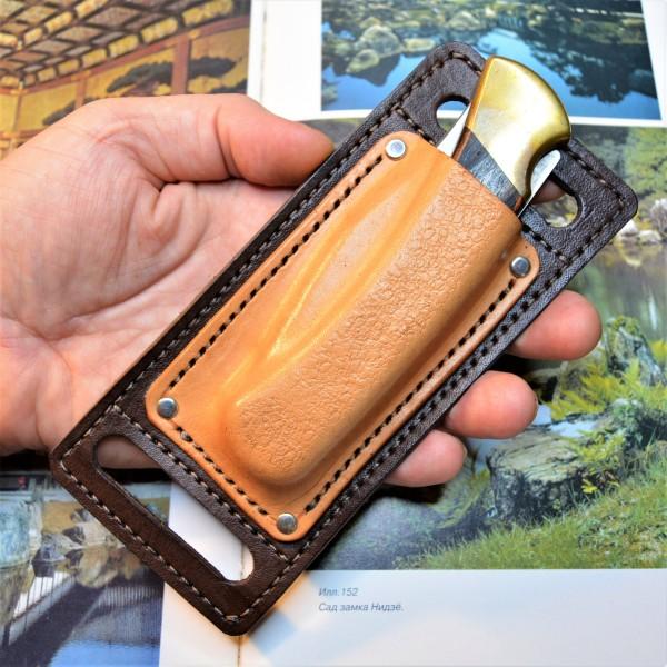 Ножны кожаные для складного ножа арт. klkl11
