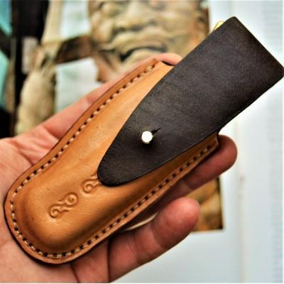 Ножны кожаные для складного ножа арт. klkl3
