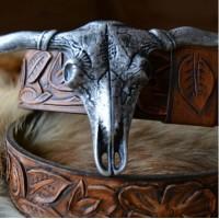Барокко винтаж стиль ремень кожаный ручной работы Повелитель пастбища