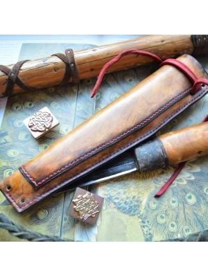 Ножны кожаные для ножа с фиксированным клинком арт et13