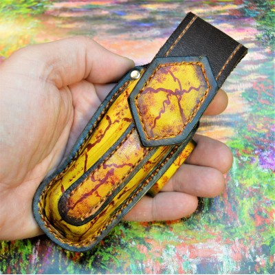 Ножны обжимные для складного ножа BUCK110  , горизонтальный подвес et4