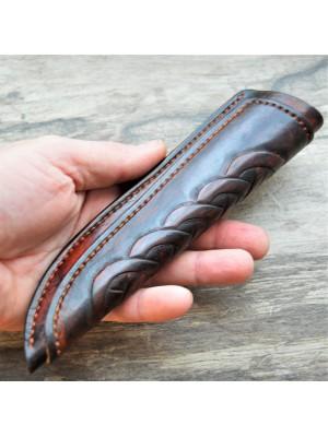Ножны кожаные для ножа с фиксированным клинком арт et8