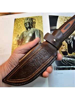 Ножны кожаные для ножа с фиксированным клинком горизонтальный повес арт klk 43