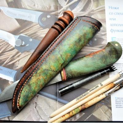 Ножны кожаные для ножа с фиксированным клинком арт et11