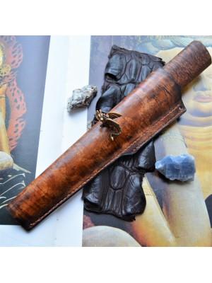 Ножны кожаные для ножа с фиксированным клинком арт et12