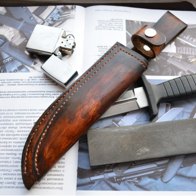 Ножны кожаные для ножа с фиксированным клинком арт et15