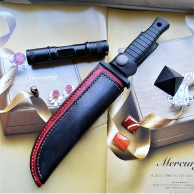 Ножны кожаные для ножа с фиксированным клинком арт et18