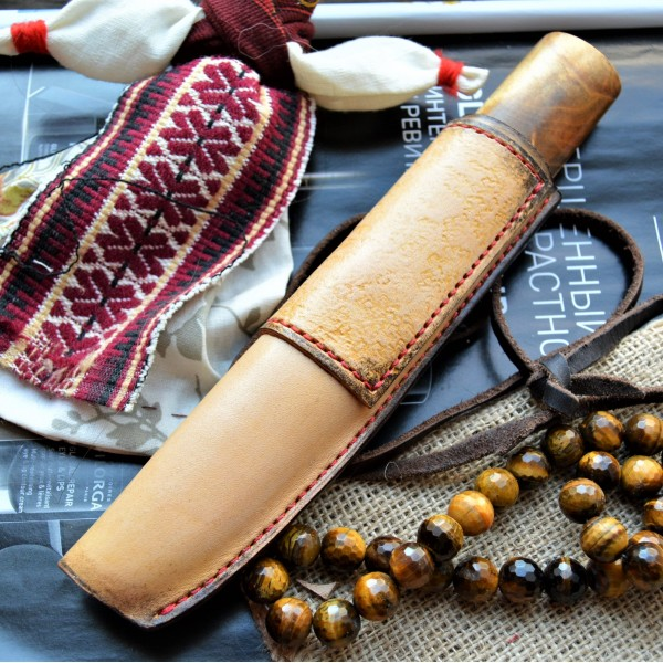 Ножны кожаные для ножа с фиксированным клинком арт et19