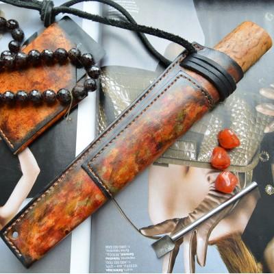 Ножны кожаные для ножа с фиксированным клинком арт et20