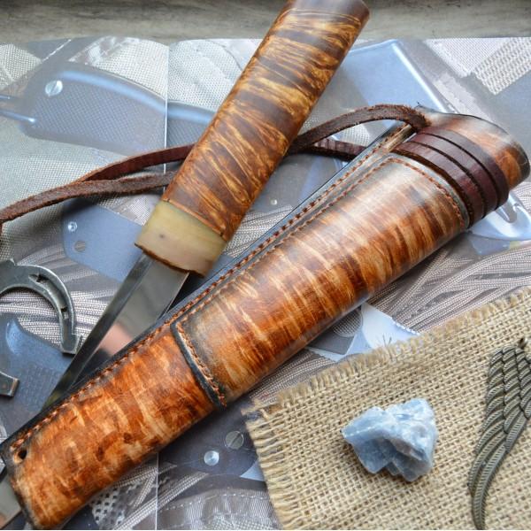 Ножны кожаные для ножа с фиксированным клинком арт et21