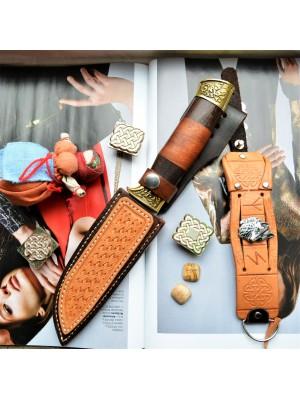 Ножны кожаные для ножа с фиксированным клинком арт et23