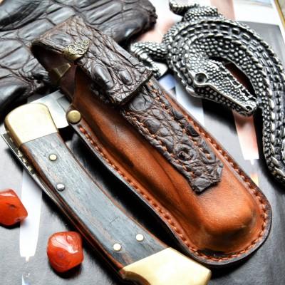 Ножны обжимные для складного ножа, клипса et24
