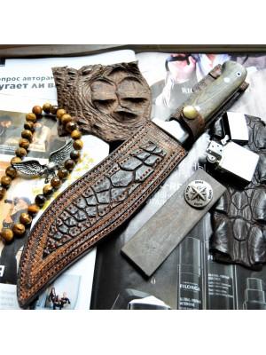 Ножны кожаные для ножа с фиксированным клинком арт et28