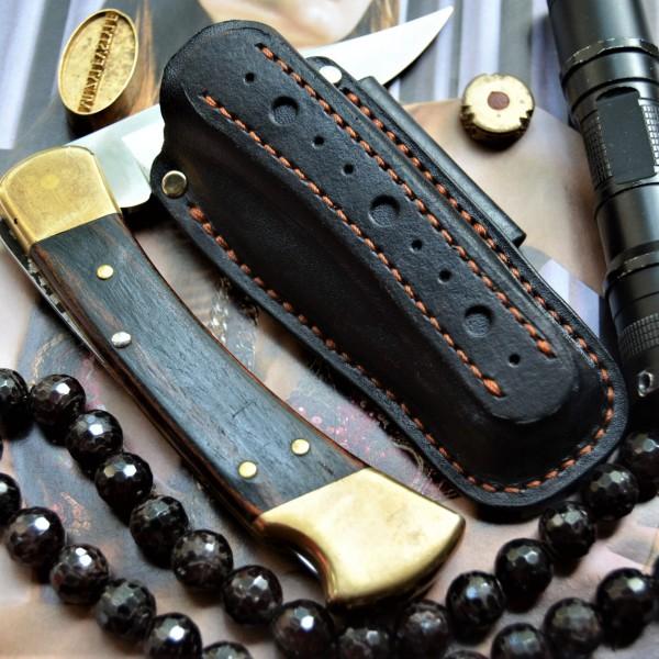 Ножны обжимные для складного ножа, горизонтальный подвес et36